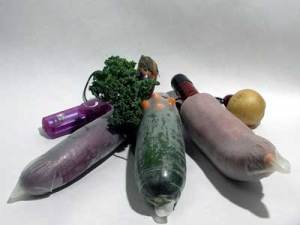 A dildo or masturbation toy may be as close as the refrigerator or fruit bowl.